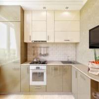 дизайн кухни с окном светлый интерьер