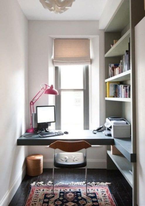 небольшой кабинет в нише