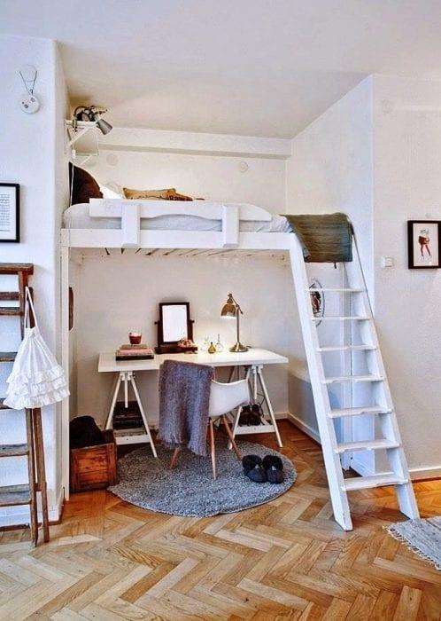 оформление ниши под спальню