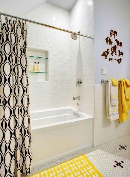 ванная в нише