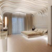 дизайн потолков спальни варианты