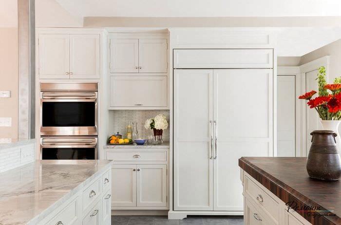 дизайн кухни 6 кв м в светлых тонах