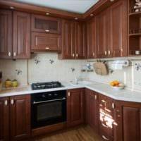 дизайн кухни 6 кв м из массива дуба