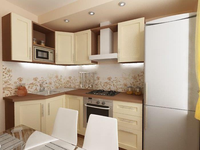 кухня 6 кв метров гарнитур