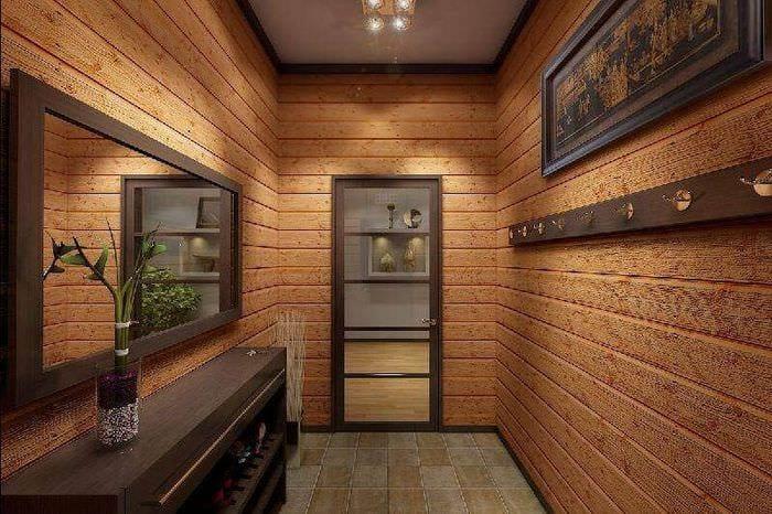 интерьер коридора в частном доме