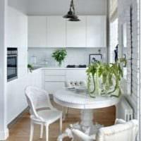 интерьер маленькой кухни декор
