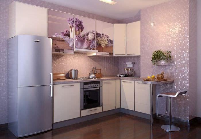 красивый дизайн кухонного гарнитура