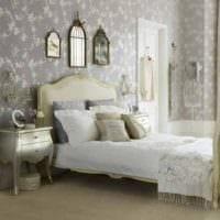 дизайн маленькой спальни с декором
