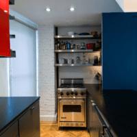 дизайн кухни 6 кв м синего цвета
