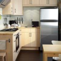 необычные формы шкафчиков на кухне