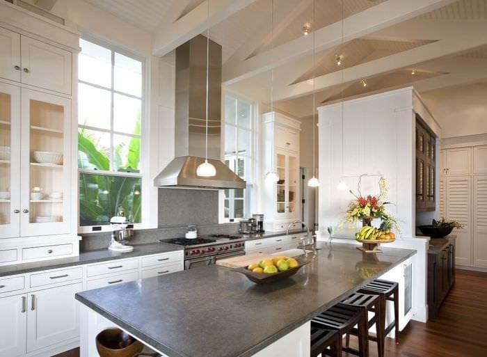 пастельные тона на кухне