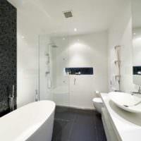 плитка для ванной белая