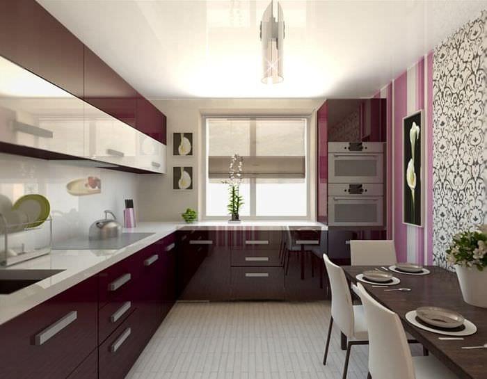 кухня 9 кв м с окном