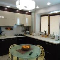 правила освещения и дизайн кухни 6 кв м