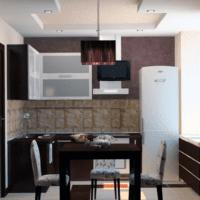 сочетание и дизайн кухни 6 кв м