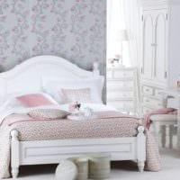 дизайн маленькой спальни в белом цвете
