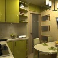светлый дизайн кухни 6 кв м