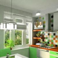 яркий дизайн кухни 6 кв м