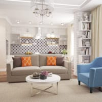 дизайн квартиры студии с нишей