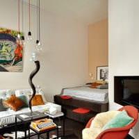 дизайн спальни гостиной с нишей