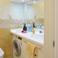 дизайн фото ванны в однокомнатной квартире