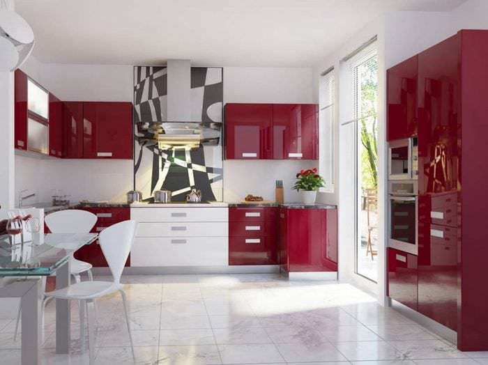 интерьер кухни модерн