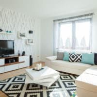 дизайн и комбинирование обоев гостиная фото