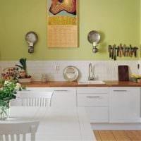 дизайн кухни без верхних навесных шкафов идеи фото