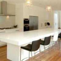 дизайн кухни без верхних навесных шкафов идеи интерьер
