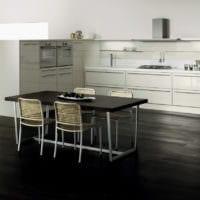 дизайн кухни без верхних навесных шкафов интерьер