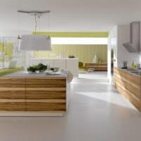 дизайн кухни без верхних навесных шкафов интерьер фото