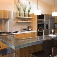 дизайн кухни без верхних навесных шкафов интерьер идеи
