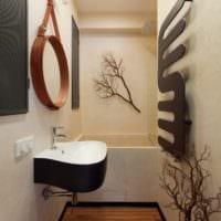 дизайн квартиры 33 м2 ванная
