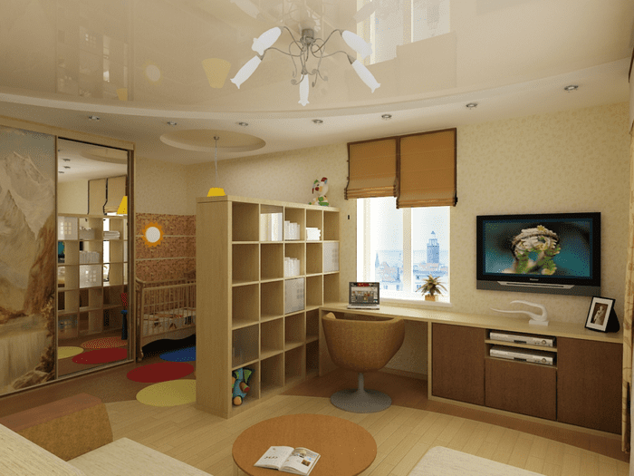 разделение зон в однокомнатной квартире