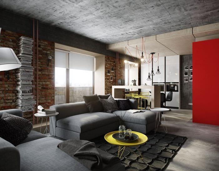квартира 30 кв м в стиле лофт