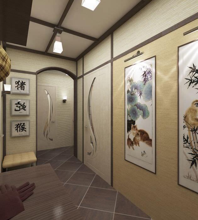 японский дизайн коридора