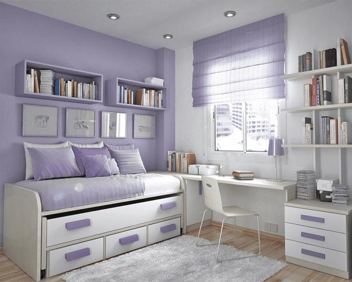 двуспальная кровать в детской