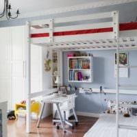 дизайн маленькой детской комнаты мебель