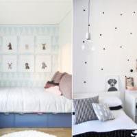 дизайн маленькой детской комнаты обои