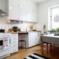 дизайн маленькой кухни фото гарнитура