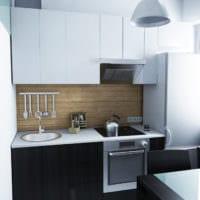 дизайн маленькой кухни гарнитур фото