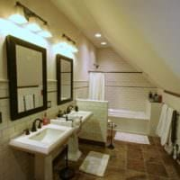 дизайн мансарды в доме ванная