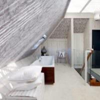 дизайн мансарды в доме ванная фото