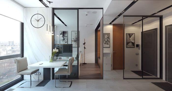 дизайн небольшой студии 36 кв м