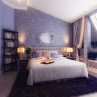 дизайн маленькой спальни сиреневого цвета