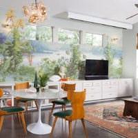 дизайн обоев фото гостиной