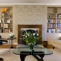дизайн обоев в квартире фото гостиной