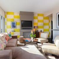 дизайн обоев в квартире гостиная