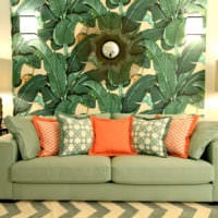 дизайн обоев в квартире гостиная фото