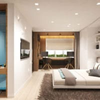 дизайн однокомнатной квартиры 30 кв м интерьер фото